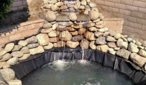 rubber-liner-pond-waterfall-Upland