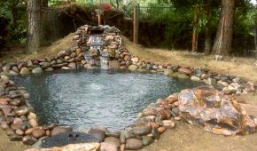stone-decorated-pond-with-waterfall-Whittier-CA